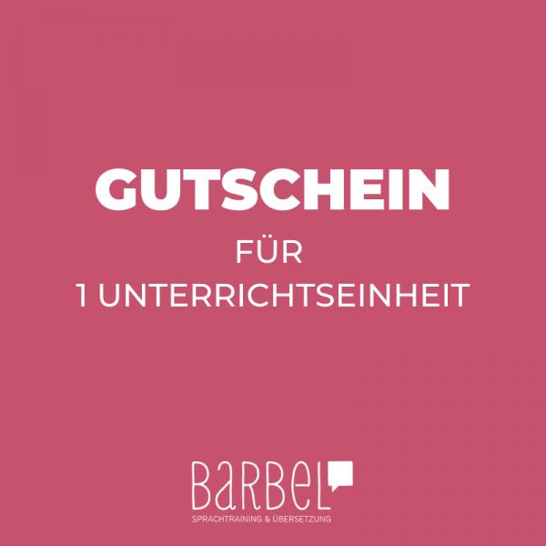 Herunterladbarer Gutschein für eine Unterrichtseinheit bei Barbel Sprachtrainerin Barbara Fichtenbauer in Wien